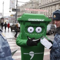 Moscow's Finest Stomp & Arrest Annoying Greenpeace Mascot