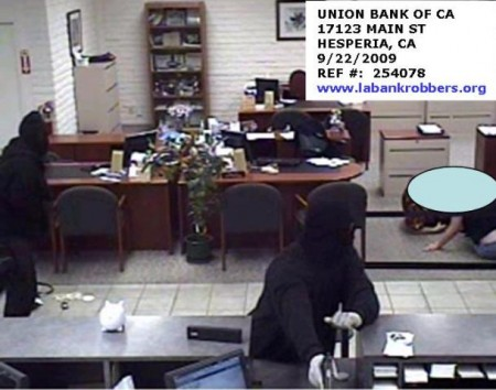 Bank robbery, High Desert