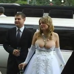 Russian bride's revealing wedding dress is web sensation