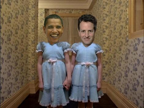 obama geithner twins