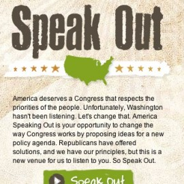 """Readers, Let's Get Ready To Troll: Congress Republicans Want You To """"Speak Out"""" On Their New Ideas Social Aggregator Site, So Go Ahead And Tell Them...And Then Send Us The Link To Your AstroThread"""