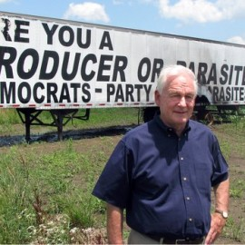 "Randian Redneck Who Wrote ""Democrats - Party of Parasites"" On His Trailer In Big Block Letters Took $1 million In Government Handouts"