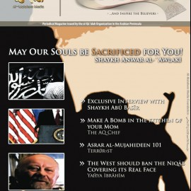 "Proof That Al-qaeda Is Real and Very, Very Dangerous: Group Releases First English-language Glossy Mag Called ""Inspire""... Read A Special Message From Everyone's Favorite Scary Terrorists Osama and Al-Zawahari... Learn How To ""make a bomb in the kitchen of your mom""... But Don't Get Too Excited, Because The CIA Got Lazy And Only Produced The First Three Pages, As That's All You Need For Fake News... [HT: Benjamin]"