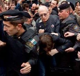 "Former Exile Columnist Eduard Limonov Arrested Along With 150 Anti-Kremlin Protesters...Putin Warned Protesters ""You are going to get beaten with a club. It's as simple as that""..."