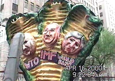 puppets DC world bank protest 2000
