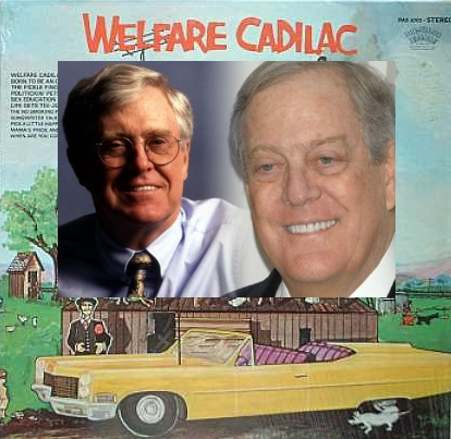 welfare cadillac charles david koch