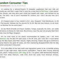 Libertarian Law Prof. David Bernstein, of George Koch-Mason University, Gives Out Libertard Shopping Tips...