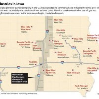 Corn-Holed By The Koch Brothers: Map & List Of Koch Holdings In Hawkeye State