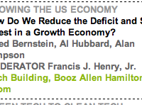 "Aspen Institute Holds ""Deficit Reduction"" Seminar In ""Koch Building, Booz Allen Hamilton Room"" [HT: Max]"