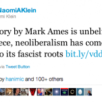 "Naomi Klein: ""This Story By Mark Ames Is Unbelievable..."" [HT: Mike]"
