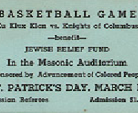 WTF?? 1920s Charity Event: KKK Played Basketball For Jewish Relief Fund, Sponsored by NAACP...Ticket Stub Leads To Firing, Lawsuit...