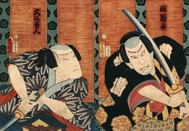 woodblock-print-featuring-2-samurai