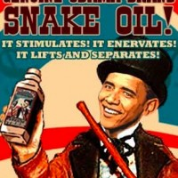 Snakeoil-huckster-in-chief Barack Obama ready to sell his amazing austerity cure to America!
