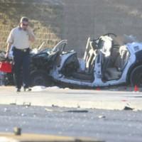 Reno 911! In Vegas: Deputy S. Jones Plows Patrol Car Into White Trash at 109 MPH In Residential Zone