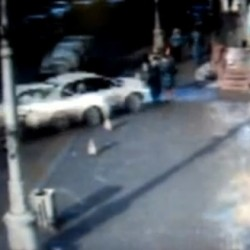 Brutal Car Accident Footage: Russian Woman Plows Into Pedestrians, But Only Cares About Her Dented Fender