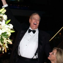 The Tea Party was a good investment for the Kochs: their combined wealth grew by $2 billion last year from $42 to $44 billion, according to Forbes...